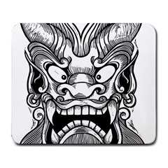 Japanese Onigawara Mask Devil Ghost Face Large Mousepads