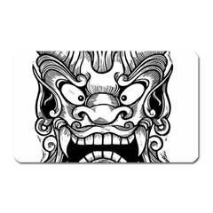 Japanese Onigawara Mask Devil Ghost Face Magnet (rectangular)