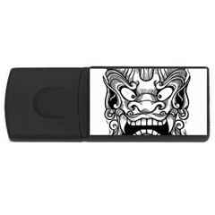 Japanese Onigawara Mask Devil Ghost Face Rectangular Usb Flash Drive