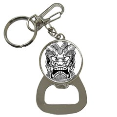 Japanese Onigawara Mask Devil Ghost Face Button Necklaces
