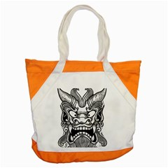 Japanese Onigawara Mask Devil Ghost Face Accent Tote Bag