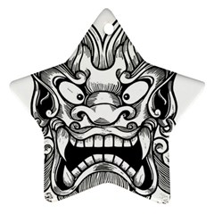 Japanese Onigawara Mask Devil Ghost Face Star Ornament (two Sides)