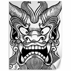 Japanese Onigawara Mask Devil Ghost Face Canvas 12  X 16