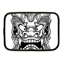 Japanese Onigawara Mask Devil Ghost Face Netbook Case (medium)