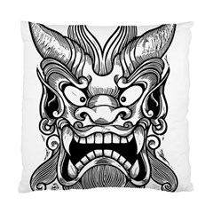 Japanese Onigawara Mask Devil Ghost Face Standard Cushion Case (two Sides)