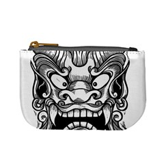 Japanese Onigawara Mask Devil Ghost Face Mini Coin Purses