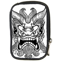 Japanese Onigawara Mask Devil Ghost Face Compact Camera Cases