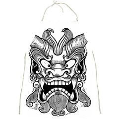Japanese Onigawara Mask Devil Ghost Face Full Print Aprons