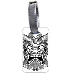 Japanese Onigawara Mask Devil Ghost Face Luggage Tags (two Sides)