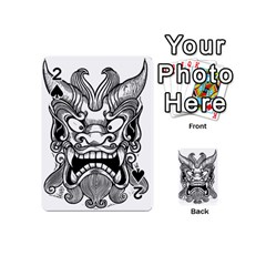 Japanese Onigawara Mask Devil Ghost Face Playing Cards 54 (mini)