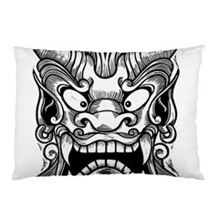 Japanese Onigawara Mask Devil Ghost Face Pillow Case (two Sides)
