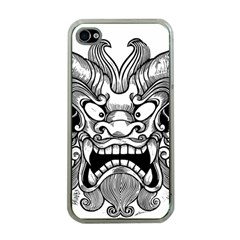 Japanese Onigawara Mask Devil Ghost Face Apple Iphone 4 Case (clear)