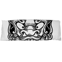 Japanese Onigawara Mask Devil Ghost Face Body Pillow Case Dakimakura (two Sides)