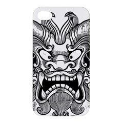Japanese Onigawara Mask Devil Ghost Face Apple Iphone 4/4s Premium Hardshell Case