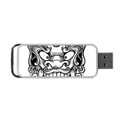 Japanese Onigawara Mask Devil Ghost Face Portable Usb Flash (two Sides)