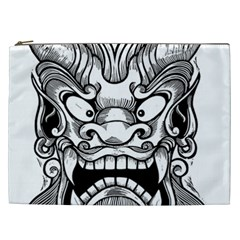 Japanese Onigawara Mask Devil Ghost Face Cosmetic Bag (xxl)