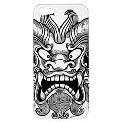 Japanese Onigawara Mask Devil Ghost Face Apple Iphone 5 Hardshell Case