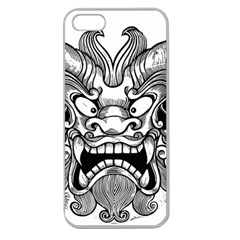Japanese Onigawara Mask Devil Ghost Face Apple Seamless Iphone 5 Case (clear)
