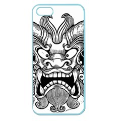 Japanese Onigawara Mask Devil Ghost Face Apple Seamless Iphone 5 Case (color)