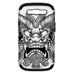 Japanese Onigawara Mask Devil Ghost Face Samsung Galaxy S Iii Hardshell Case (pc+silicone)
