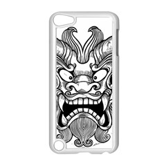 Japanese Onigawara Mask Devil Ghost Face Apple Ipod Touch 5 Case (white)