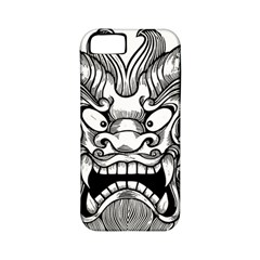 Japanese Onigawara Mask Devil Ghost Face Apple Iphone 5 Classic Hardshell Case (pc+silicone)