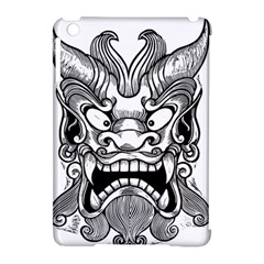 Japanese Onigawara Mask Devil Ghost Face Apple Ipad Mini Hardshell Case (compatible With Smart Cover)