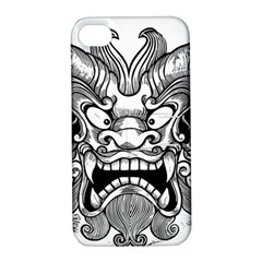 Japanese Onigawara Mask Devil Ghost Face Apple Iphone 4/4s Hardshell Case With Stand