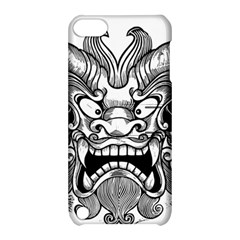 Japanese Onigawara Mask Devil Ghost Face Apple Ipod Touch 5 Hardshell Case With Stand