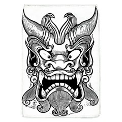Japanese Onigawara Mask Devil Ghost Face Flap Covers (l)