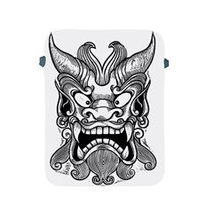 Japanese Onigawara Mask Devil Ghost Face Apple Ipad 2/3/4 Protective Soft Cases
