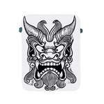 Japanese Onigawara Mask Devil Ghost Face Apple iPad 2/3/4 Protective Soft Cases Front