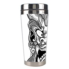 Japanese Onigawara Mask Devil Ghost Face Stainless Steel Travel Tumblers