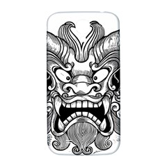 Japanese Onigawara Mask Devil Ghost Face Samsung Galaxy S4 I9500/i9505  Hardshell Back Case