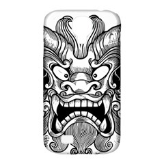 Japanese Onigawara Mask Devil Ghost Face Samsung Galaxy S4 Classic Hardshell Case (pc+silicone)