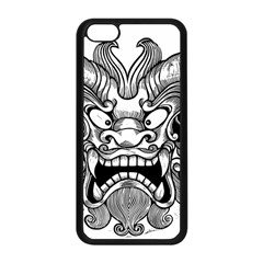 Japanese Onigawara Mask Devil Ghost Face Apple Iphone 5c Seamless Case (black)