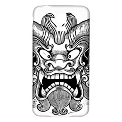Japanese Onigawara Mask Devil Ghost Face Samsung Galaxy S5 Back Case (white)