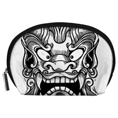 Japanese Onigawara Mask Devil Ghost Face Accessory Pouches (large)