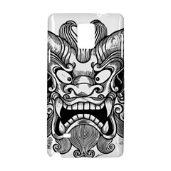 Japanese Onigawara Mask Devil Ghost Face Samsung Galaxy Note 4 Hardshell Case