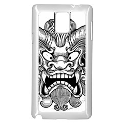 Japanese Onigawara Mask Devil Ghost Face Samsung Galaxy Note 4 Case (white)