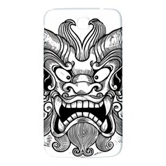 Japanese Onigawara Mask Devil Ghost Face Samsung Galaxy Mega I9200 Hardshell Back Case