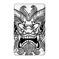 Japanese Onigawara Mask Devil Ghost Face Samsung Galaxy Tab S (8 4 ) Hardshell Case