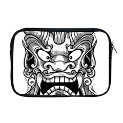 Japanese Onigawara Mask Devil Ghost Face Apple Macbook Pro 17  Zipper Case
