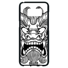 Japanese Onigawara Mask Devil Ghost Face Samsung Galaxy S8 Black Seamless Case