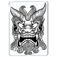 Japanese Onigawara Mask Devil Ghost Face Apple Ipad Pro 9 7   White Seamless Case