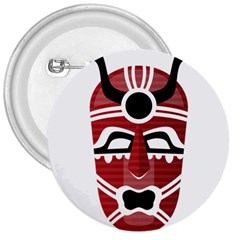 Africa Mask Face Hunter Jungle Devil 3  Buttons