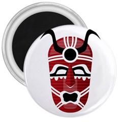 Africa Mask Face Hunter Jungle Devil 3  Magnets