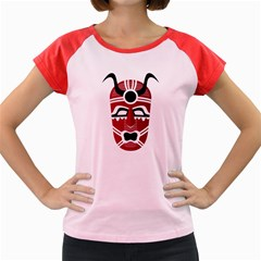 Africa Mask Face Hunter Jungle Devil Women s Cap Sleeve T Shirt
