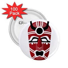 Africa Mask Face Hunter Jungle Devil 2 25  Buttons (100 Pack)