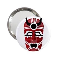 Africa Mask Face Hunter Jungle Devil 2 25  Handbag Mirrors